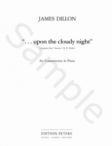 . . . upon the cloudy night