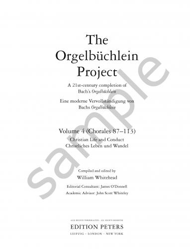 The Orgelbüchlein Project: a 21st-century completion of Bach's Orgelbüchlein