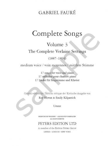 Complete Songs, Vol. 3 (Medium Voice)