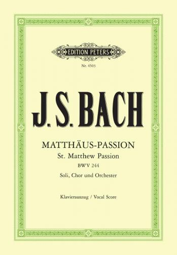 St Matthew Passion BWV 244 (Vocal Score)